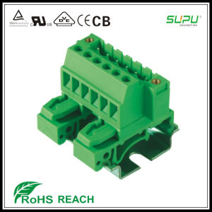 Ns32/Ns35 DIN Rail 5.08mm Pitch Male Connector with Nut pictures & photos