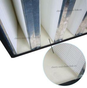Large Airflow V-Bank Filter Glassfiber Filter Media pictures & photos