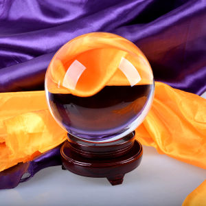 Trasparent Crystal Glass Ball with Wooden Base or Crystal Base pictures & photos