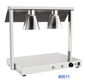 Double Head Stainless Steel Food Warmer Lamp for Hotel (80011) pictures & photos