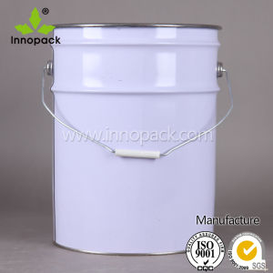 Metal Pail 20L with Lid and Latch Metal Drum pictures & photos