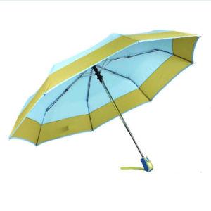 Border&Edged Solid Fold Open&Close Umbrellas (YS-3FD22083967R) pictures & photos