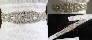 Bridal Beaded Rhinestone Belt Applique Wholesale Appliques for Bridal Sash pictures & photos