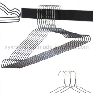 Galvanized Steel Clothes Coat Garment Metal Wire Hanger for Commercial Laundries pictures & photos