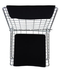 Modern Steel Dining Restaurant Stackable Strings Wire Chair pictures & photos
