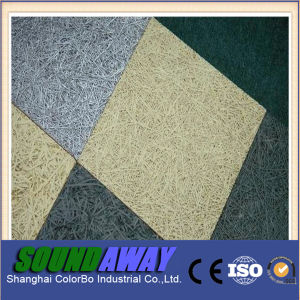 Anti-Moisturebinder Wood Wool Acoustic Panel for Interior Decorative pictures & photos