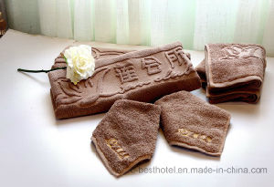 Super Soft and Luxury Cotton Jacquard Hotel Terry Towel pictures & photos