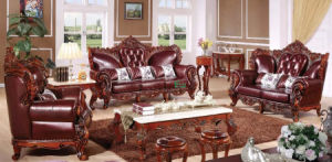 Living Room Sofa with Wood Sofa Frame (511A) pictures & photos