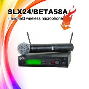 Professional Stage Audio Nice Quality Slx24/Beta58 UHF Handheld Wireless/Cordless Microphone pictures & photos