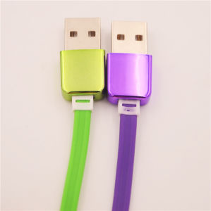 1m TPE Multifunction Phone Accessories USB Electroplate Data Cable for iPhone Samsung pictures & photos