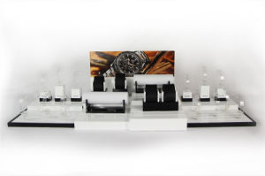 Black White Glossy Lacquer Luxury Acrylic MDF Watch Display pictures & photos
