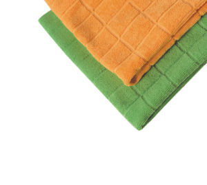 High Quality Absorbent Tartan Cleaning Cloth Microfiber Towel Microfiber Cloth for Easy Cleaning (4002) pictures & photos