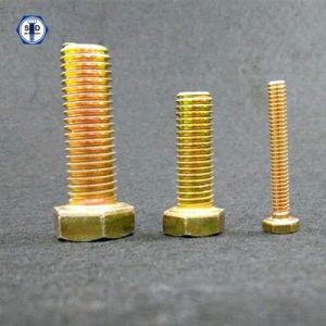 SAE J429 Gr. 8 Hex Head Cap Screw/Bolts Zinc Yellow pictures & photos