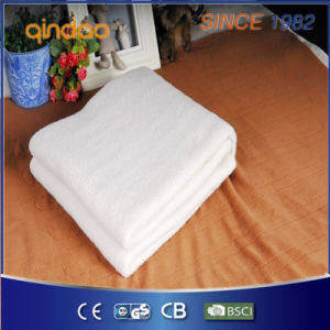 Approved Synthetic Wool Fleece Heated Blanket with Four Heat Setting pictures & photos
