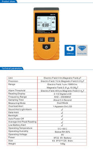 GM3120 Household Radiometer Measuring Instrument Dual Phone Monitoring with LCD Display pictures & photos