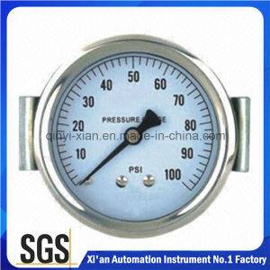 Back Connection Stainless Steel Manometer with Clamp pictures & photos