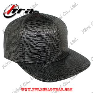Black & White Lizard Leather Baseball Cap Allover Pattern pictures & photos