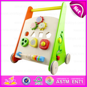 En71 Standard Multi-Functional Colorful Wooden Big Wooden Activity Baby Walker W16e047 pictures & photos