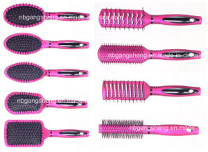 Hot Sale Plastic Makeup Hair Brush for Family pictures & photos