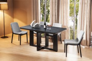 Tempered Glass with Burnt Stone Top Dining Table (CT-2031) pictures & photos