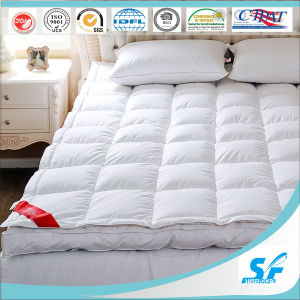 100%Cotton Pattern and Goose Duck Down Fill Mattress Topper for Hotel pictures & photos