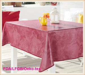 Home Textile PVC Tablecloth / Oilcloth in Roll Factory pictures & photos