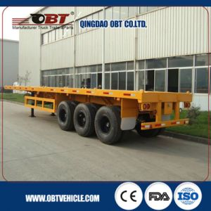 3 Axle 40 Feet Container Cargo Flatbed Trailers pictures & photos