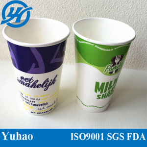 12/16/20oz Cheap Hot Selling Milkshake Cold Paper Cup (YHC-083) pictures & photos
