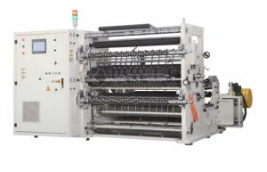 Used of Automatic Adhesive Plastic Film Machinery Automatic Slitting Machine