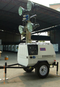 T500 Series with 5kVA Generator Mobile Light Tower Generator Set/Diesel Generator Set/Diesel Generating Set/Genset/Diesel Genset pictures & photos