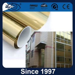 Building Glass Privacy Protection Gold Reflective Window Tint Film pictures & photos