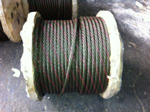 Ungalvanized Steel Wire Rope with Golden Color Grease a-2 pictures & photos