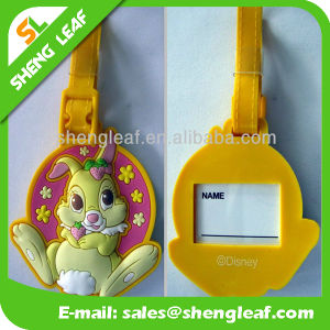 Custom Made Logo PVC Rubber Luggage Tag (SLF-LT031) pictures & photos