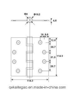 """SUS304 Butt Hinge for Fire Door and Metal Door (4.5""""X4.5""""X4.5-4BB) pictures & photos"""