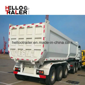 3 Axle 60ton Used New Hydraulic Cylinder Rear End Dump Tipper Dumper Semi Trailer pictures & photos