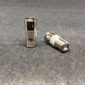 Coaxial Rg RCA BNC F Female to Fquick Male Connector pictures & photos
