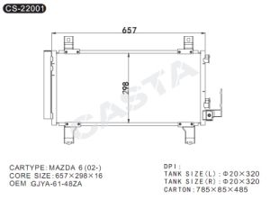 for Mazda auto condenser OEM: Gjya-61-48za pictures & photos