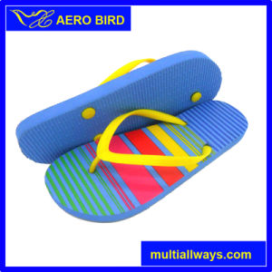 Synthetic Footbed Girls Summer Beach Flip Flop Pool Shoes pictures & photos