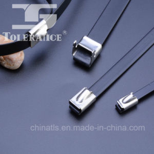 PVC Covered Self Locking Stainless Steel Cable Tie