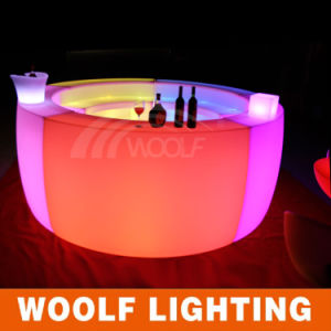 Modern Illuminated Plastic LED Bar Table Design pictures & photos