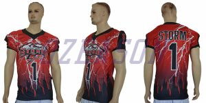 Custom Fully Spandex Intergrated Sublimated Canada Maple Leaf American Football Shirt pictures & photos