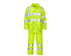 High Visibility Waterproof Coverall Workwear Rain Coat/ Traffic Police Rain Coat pictures & photos