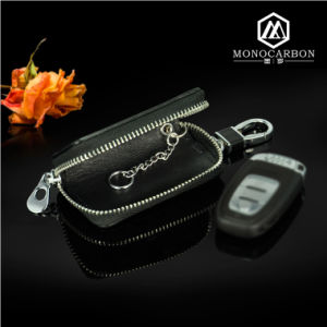 New High Quality Colorful Carbon Fiber Car Key Bag Wallet pictures & photos