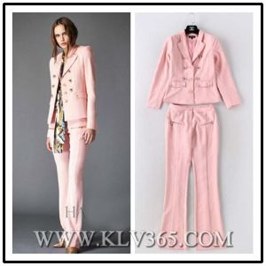 High Fashion Designer Clothing Women Business Suit Top and Pants Two Piece