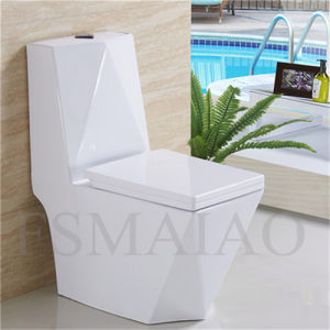 Sanitary Wares Hot Sale One Piece Ceramic Siphonic Toilet (8111) pictures & photos