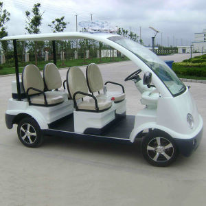 Lead Acid Battery Electric Sightseeing Car with 4 Seater (DN-4) pictures & photos