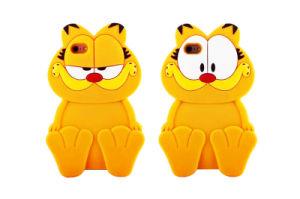 Yellow Big Eye Garfield Silicone Phone Case for Huawei P8 Lite LG K10 K5 K7 (XSDW-005)