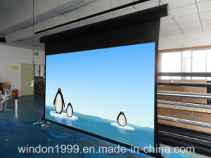 Motorized Tab Tensioned Cinema Projector Screens Wall or Ceiling Mounted pictures & photos