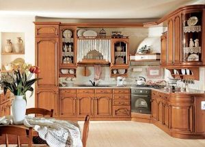 American Style Solid Wood Kitchen Cabinet (cherry 5) pictures & photos