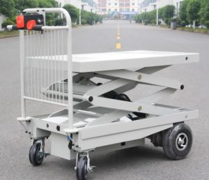 Electric Alignment Scissor Lifts Table with One Cylinder for Materials Positioning pictures & photos